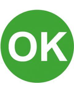 QS Zeichen OK · grün | Aufkleber · Magnetschild · Aluminiumschild