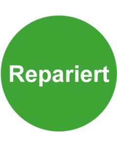 QS Zeichen Repariert · grün | Aufkleber · Magnetschild · Aluminiumschild