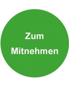 QS Zeichen Zum Mitnehmen · grün | Aufkleber · Magnetschild · Aluminiumschild