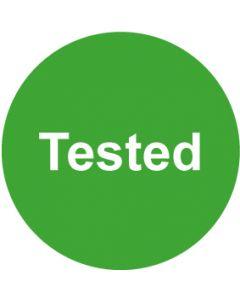 QS Zeichen Tested · grün | Aufkleber · Magnetschild · Aluminiumschild
