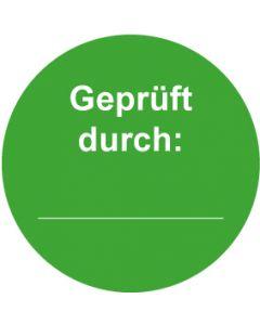 QS Zeichen Geprüft durch · grün | Aufkleber · Magnetschild · Aluminiumschild