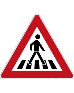 Verkehrszeichen Gefahrzeichen Fußgängerüberweg, Aufstellung links · Zeichen 101-21  | Aufkleber · Schild · Magnetschild