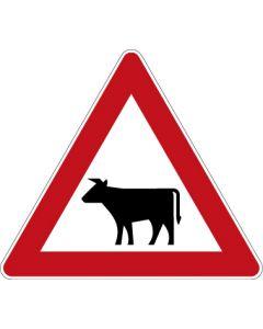 Verkehrszeichen Gefahrzeichen Viehtrieb · Zeichen 101-12  | Aufkleber · Schild · Magnetschild