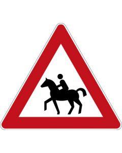 Verkehrszeichen Gefahrzeichen Reiter · Zeichen 101-13  | Aufkleber · Schild · Magnetschild
