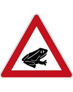 Verkehrszeichen Gefahrzeichen Amphibienwanderung, Aufstellung links · Zeichen 101-24  | Aufkleber · Schild · Magnetschild