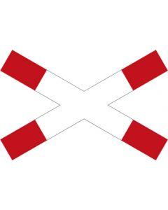 Verkehrszeichen Vorschriftzeichen Andreaskreuz (liegend) · Zeichen 201  | Aufkleber · Schild · Magnetschild