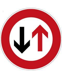 Verkehrszeichen Vorschriftzeichen Dem Gegenverkehr Vorrang gewähren! · Zeichen 208  | Aufkleber · Schild · Magnetschild