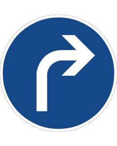 Verkehrszeichen Vorschriftzeichen Vorgeschriebene Fahrtrichtung, rechts · Zeichen 209  | Aufkleber · Schild · Magnetschild