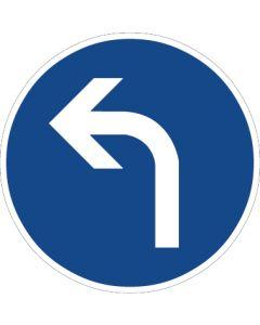 Verkehrszeichen Vorschriftzeichen Vorgeschriebene Fahrtrichtung, links · Zeichen 209-10  | Aufkleber · Schild · Magnetschild