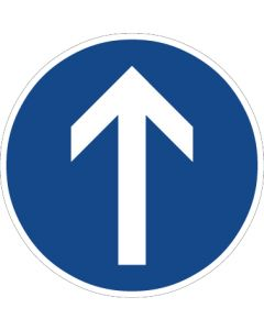 Verkehrszeichen Vorschriftzeichen Vorgeschriebene Fahrtrichtung, geradeaus · Zeichen 209-30  | Aufkleber · Schild · Magnetschild