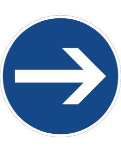 Verkehrszeichen Vorschriftzeichen Vorgeschriebene Fahrtrichtung, Hier rechts · Zeichen 211  | Aufkleber · Schild · Magnetschild