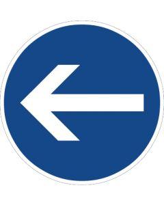 Verkehrszeichen Vorschriftzeichen Vorgeschriebene Fahrtrichtung, Hier links · Zeichen 211-10  | Aufkleber · Schild · Magnetschild