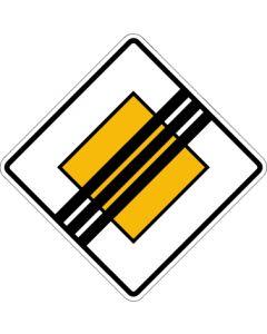 Verkehrszeichen Richtzeichen Ende der Vorfahrtstraße · Zeichen 307  | Aufkleber · Schild · Magnetschild