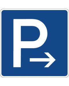Verkehrszeichen Richtzeichen Parkplatz (Ende) · Zeichen 314-20  | Aufkleber · Schild · Magnetschild
