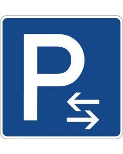 Verkehrszeichen Richtzeichen Parken Mitte (Aufstellung rechts oder links) · Zeichen 314-30  | Aufkleber · Schild · Magnetschild