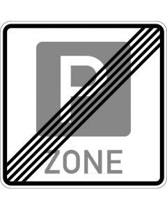 Verkehrszeichen Richtzeichen Ende einer Parkraumbewirtschaftungszone · Zeichen 314.2  | Aufkleber · Schild · Magnetschild