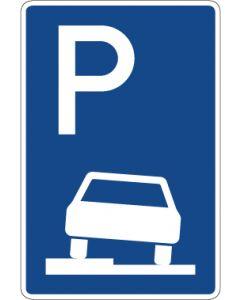 Verkehrszeichen Richtzeichen Parken halb auf Gehwegen in Fahrtrichtung links · Zeichen 315-50  | Aufkleber · Schild · Magnetschild