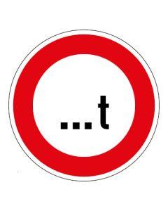 Verkehrszeichen Zulässiges Gesamtgewicht Wunschziffer | Aufkleber · Magnetschild · Aluminium-Schild