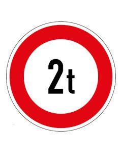Verkehrszeichen Zulässiges Gesamtgewicht 2t | Aufkleber · Magnetschild · Aluminium-Schild