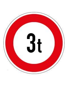 Verkehrszeichen Zulässiges Gesamtgewicht 3t | Aufkleber · Magnetschild · Aluminium-Schild