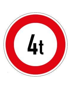 Verkehrszeichen Zulässiges Gesamtgewicht 4t | Aufkleber · Magnetschild · Aluminium-Schild