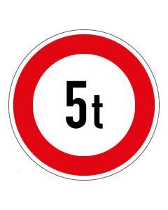Verkehrszeichen Zulässiges Gesamtgewicht 5t | Aufkleber · Magnetschild · Aluminium-Schild
