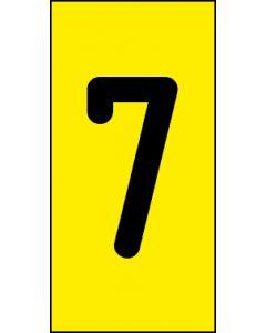Einzelziffer 7 | schwarz · gelb | Aufkleber · Magnetschild · Aluminium-Schild
