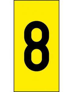 Einzelziffer 8 | schwarz · gelb | Aufkleber · Magnetschild · Aluminium-Schild