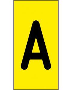 Einzelbuchstabe A | schwarz · gelb | Aufkleber · Magnetschild · Aluminium-Schild