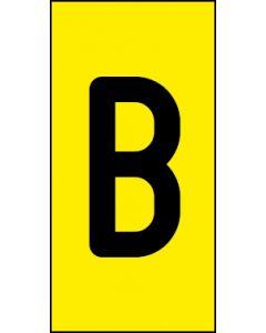 Einzelbuchstabe B | schwarz · gelb | Aufkleber · Magnetschild · Aluminium-Schild