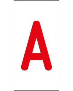 Einzelbuchstabe A | rot · weiß | Aufkleber · Magnetschild · Aluminium-Schild