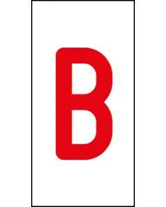 Einzelbuchstabe B | rot · weiß | Aufkleber · Magnetschild · Aluminium-Schild