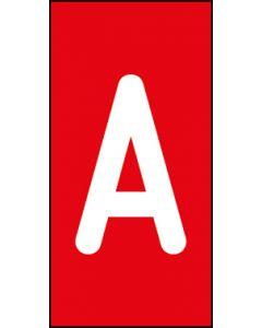 Einzelbuchstabe A | weiß · rot | Aufkleber · Magnetschild · Aluminium-Schild