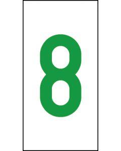 Einzelziffer 8 | grün · weiß | Aufkleber · Magnetschild · Aluminium-Schild