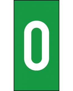 Einzelziffer 0 | weiß · grün | Aufkleber · Magnetschild · Aluminium-Schild