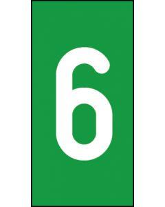 Einzelziffer 6 | weiß · grün | Aufkleber · Magnetschild · Aluminium-Schild