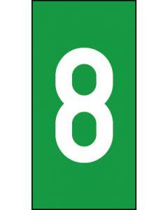 Einzelziffer 8 | weiß · grün | Aufkleber · Magnetschild · Aluminium-Schild