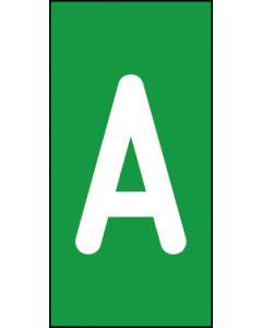 Einzelbuchstabe A | weiß · grün | Aufkleber · Magnetschild · Aluminium-Schild