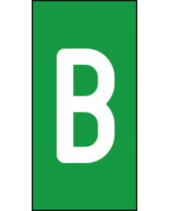 Einzelbuchstabe B | weiß · grün | Aufkleber · Magnetschild · Aluminium-Schild