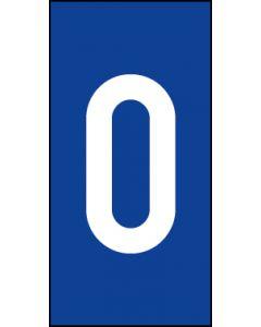 Einzelziffer 0 | weiß · blau | Aufkleber · Magnetschild · Aluminium-Schild