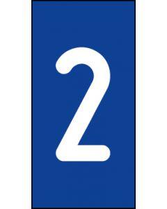 Einzelziffer 2 | weiß · blau | Aufkleber · Magnetschild · Aluminium-Schild