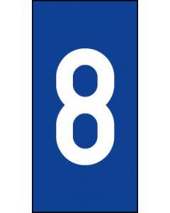 Einzelziffer 8 | weiß · blau | Aufkleber · Magnetschild · Aluminium-Schild