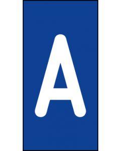 Einzelbuchstabe A | weiß · blau | Aufkleber · Magnetschild · Aluminium-Schild