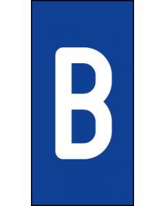 Einzelbuchstabe B | weiß · blau | Aufkleber · Magnetschild · Aluminium-Schild