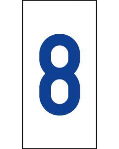 Einzelziffer 8 | blau · weiß | Aufkleber · Magnetschild · Aluminium-Schild