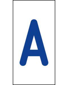 Einzelbuchstabe A | blau · weiß | Aufkleber · Magnetschild · Aluminium-Schild