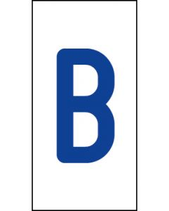 Einzelbuchstabe B | blau · weiß | Aufkleber · Magnetschild · Aluminium-Schild