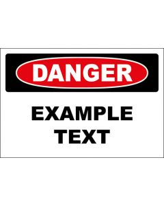OSHA Hinweisschild Example Text Danger