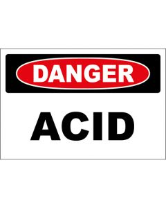 OSHA Hinweisschild Acid Danger | Aufkleber · Magnetschild · Aluminium-Schild