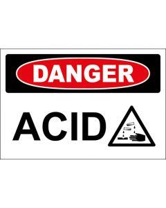 OSHA Hinweisschild Acid With Picture Danger | Aufkleber · Magnetschild · Aluminium-Schild